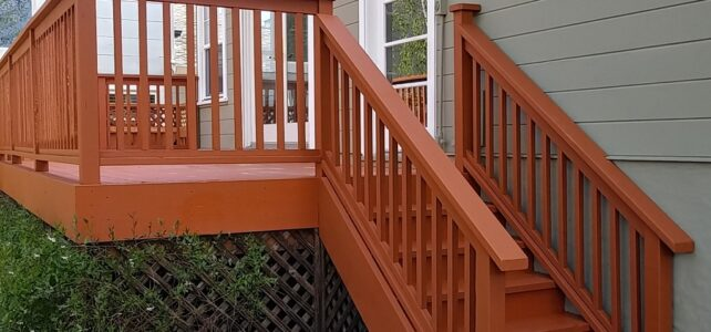 Deck Painting Project in San Carlos, CA