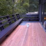 deck painting in progress