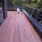 deck prep and paint