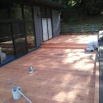 deck being prepared for painting