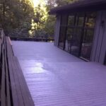 freshly painted deck