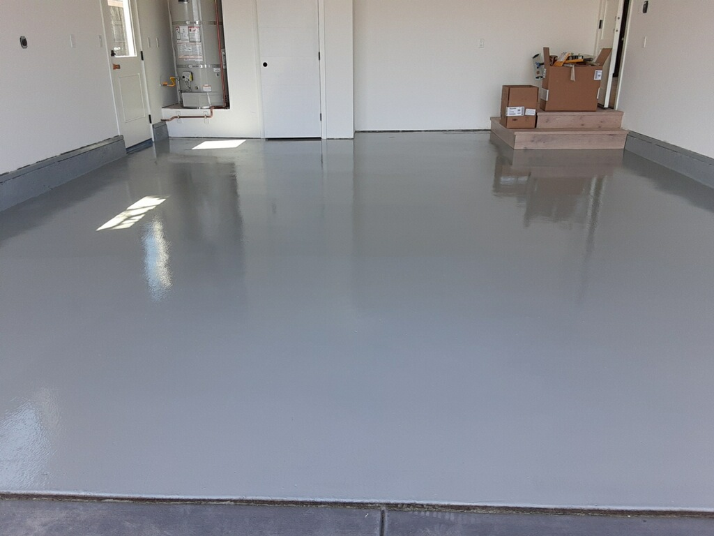 Epoxy garage flooring by Walls N Beyond Painting Company