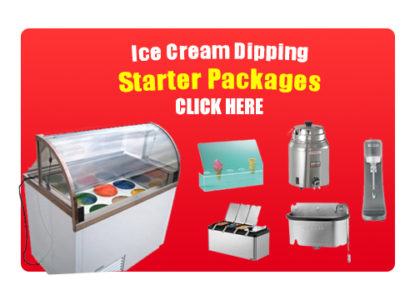 Ice cream dipping cabinet starter packages button Click Here