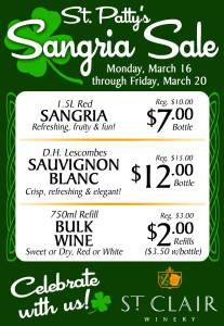 St Patty's Day Sangria Sip tasting room 2015_FB