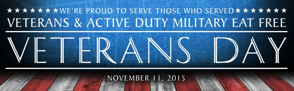 Veterans Day 2015 email header