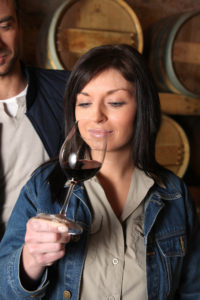 wine tasting during a wine tour at d.h. lescombes winery & tasting room in deming new mexico