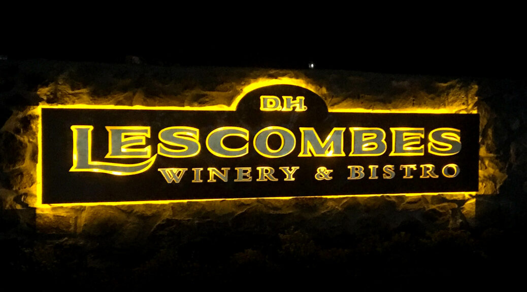 St. Clair Winery & Bistro is now D.H. Lescombes Winery & Bistro