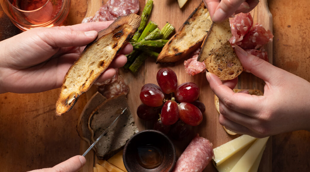 Hervé cheese and charcuterie board at Hervé Wine Bar in Santa Fe near the Historic Plaza