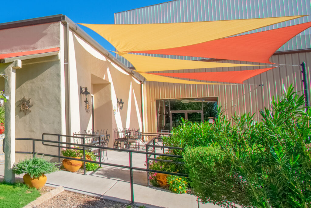 deming event spaces outdoor patio area and more available at D.H. Lescombes Winery & Tasting Room