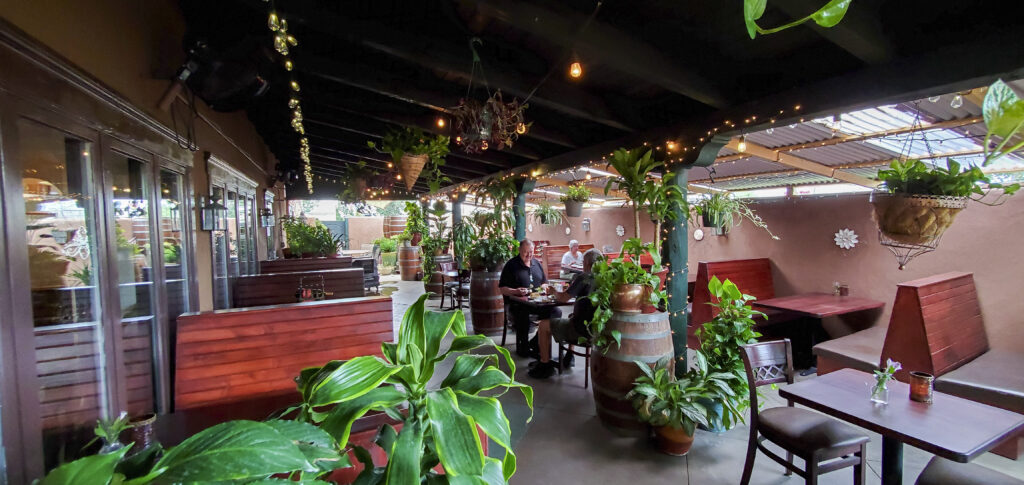 east patio event space for rent at D.H. Lescombes Winery & Bistro in Albuquerque