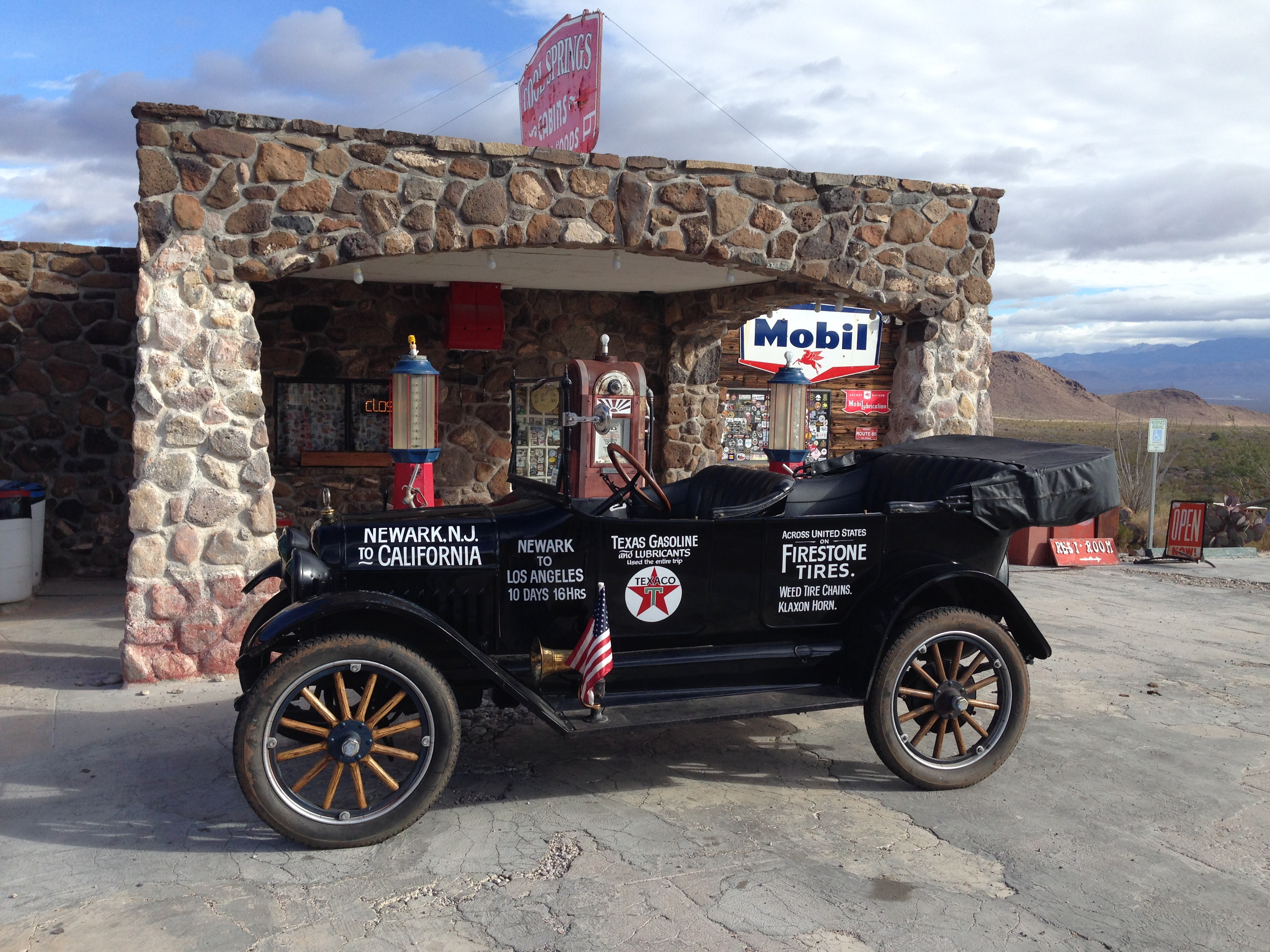 Photo stop at an old station on the Oatman Highway