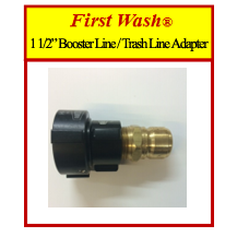 """First Wash® 1 1/2"""" Booster Line / Trash Line Adapter"""