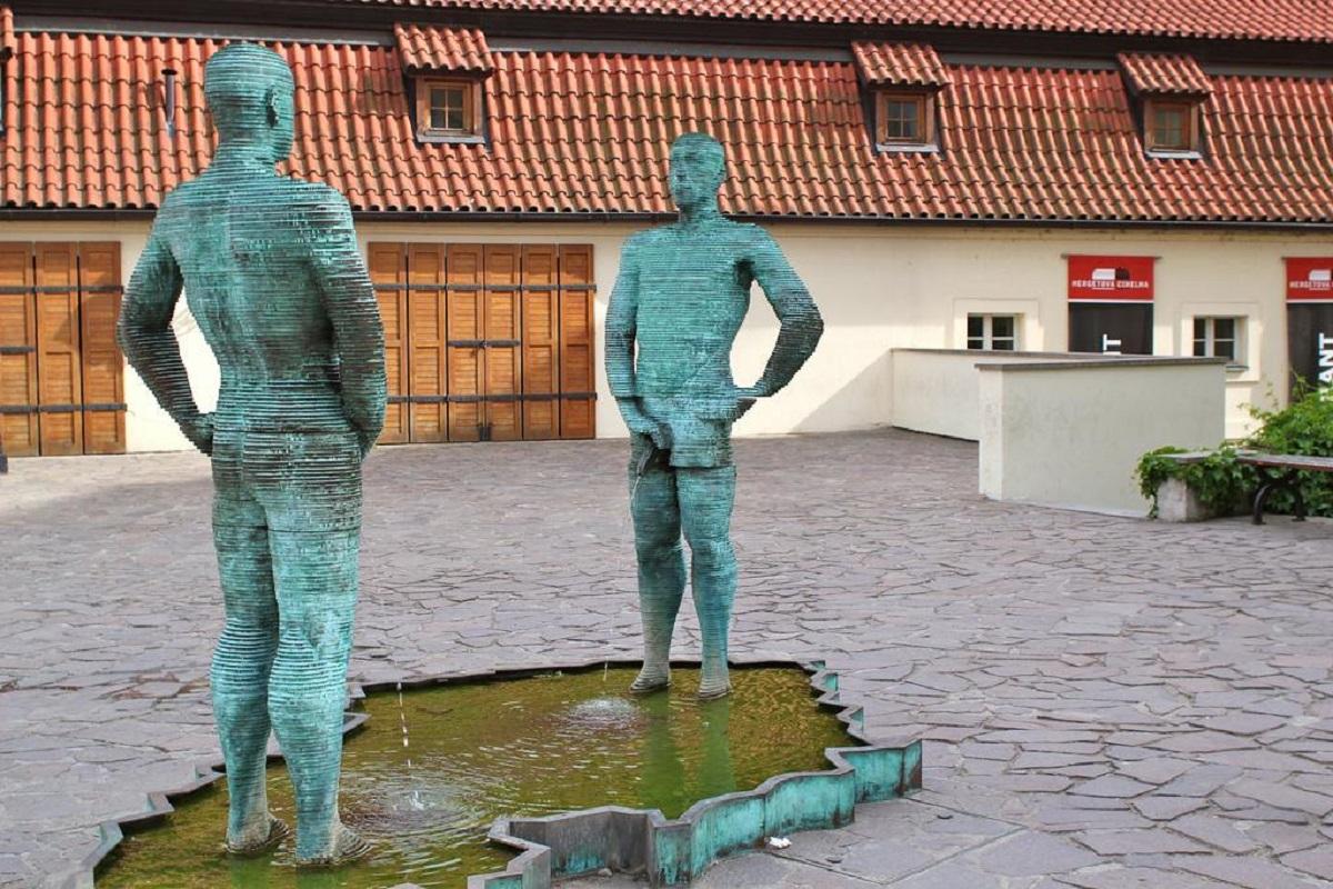 David Cernys Piss Sculpture Prague