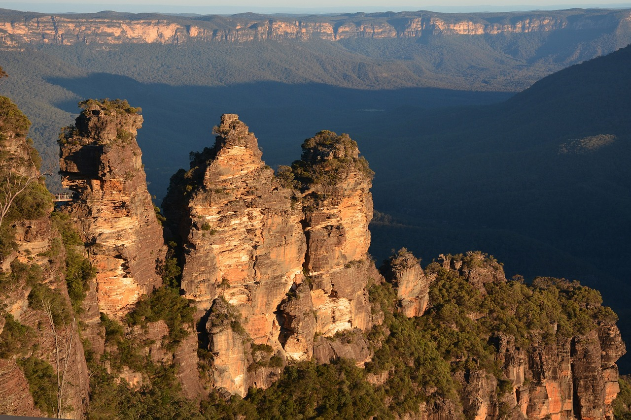 """Aborigines named this rock formation the """"Three Sisters"""" believing they were three siblings turned to rock by a witch doctor."""