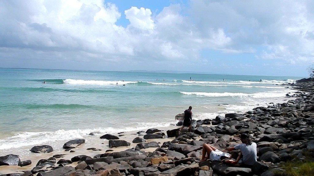 Surfers at dolphin point