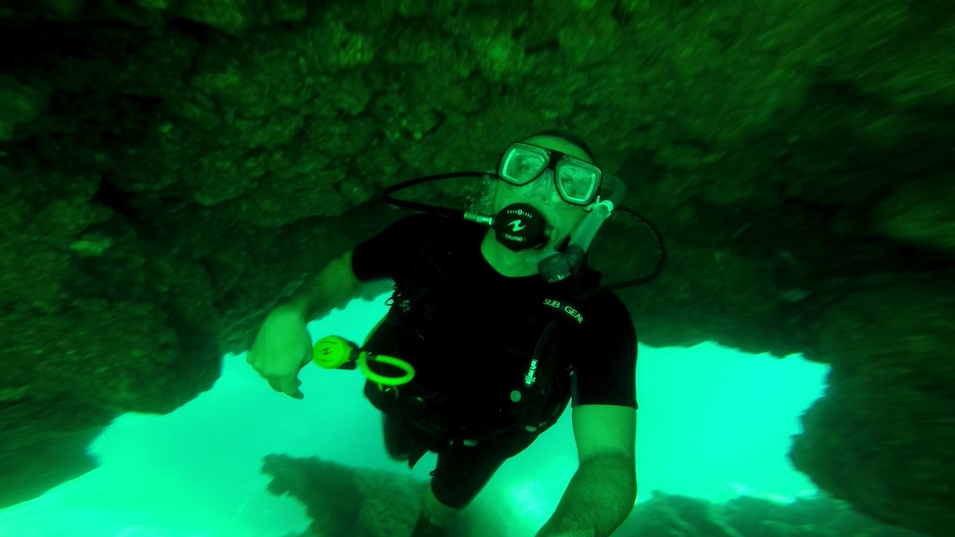 The diving in Phi Phi was fairly good even with average visibility.