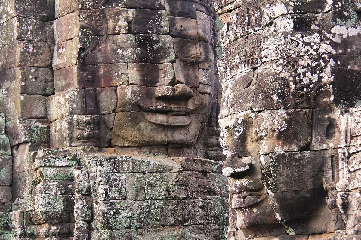 Bayon Temple faces follow wherever you go
