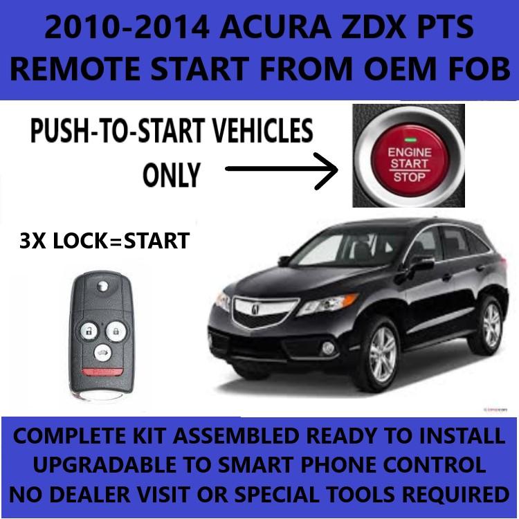 2010-2013 Acura ZDV remote start