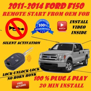 2011-2014 ford f150 plug and play remote start