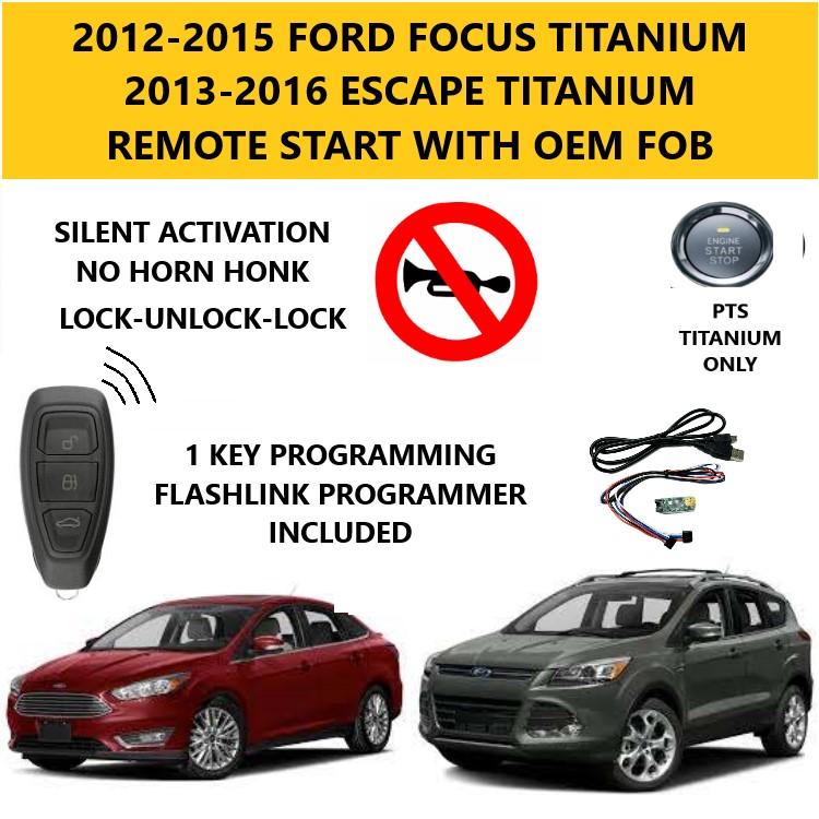 focus escape titanium plug play remote start