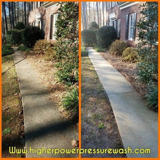 Christmas Concrete Cleaning – fayetteville ga
