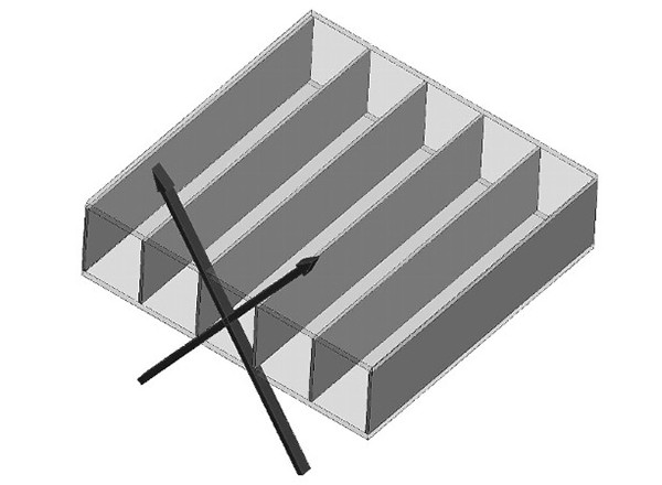 Standard pitch: Standard louver sheet thickness