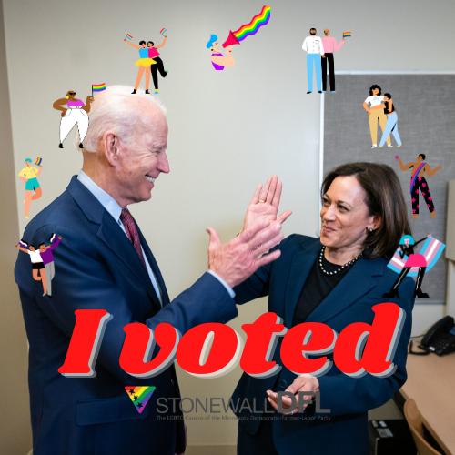 I voted (2)