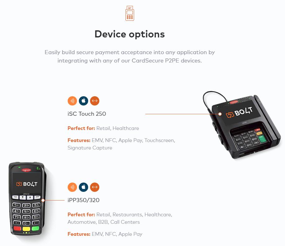 Bolt Device Options