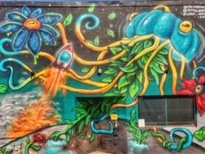 Denver Mural of a Jellyfish