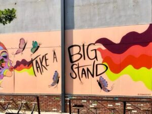 Downtown Denver Take a Big Stand Mural