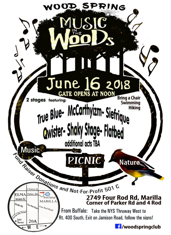 Music In The Woods 2018 – Poster
