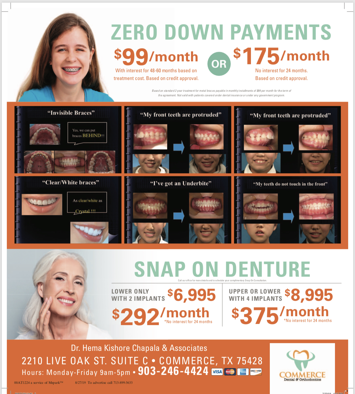 Commerce Dental - Dental Coupon 1