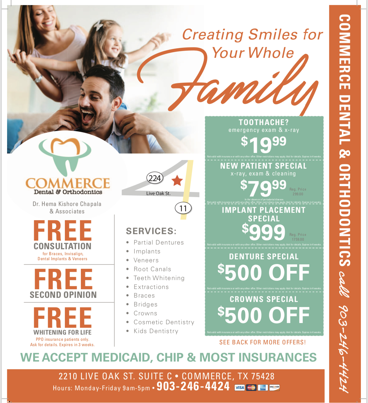 Dental Coupons from Commerce Dental And Orthodontics