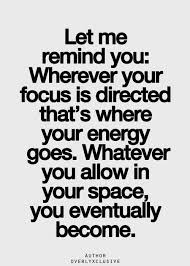 Where do you invest your energy?