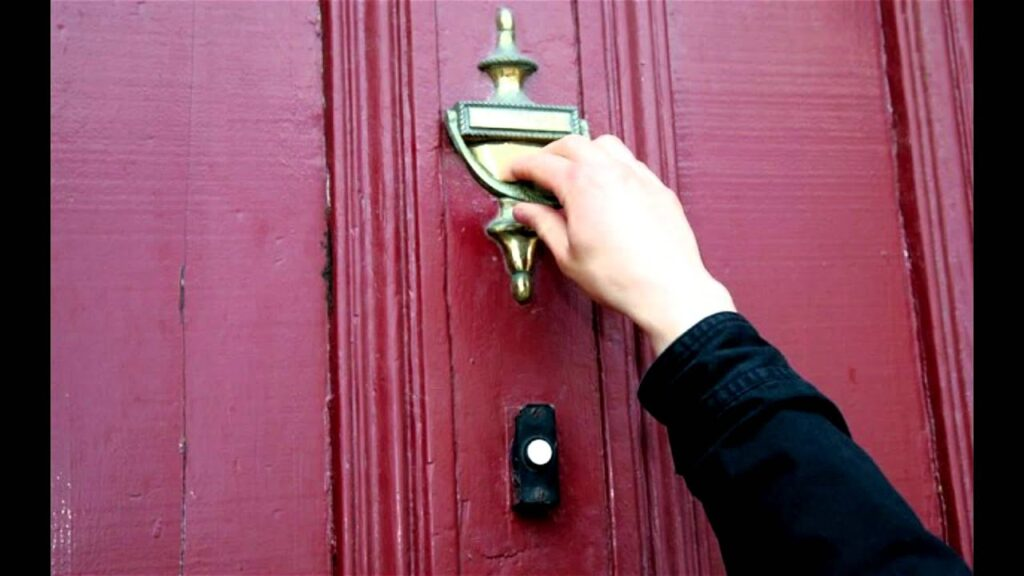 If the key don't work, knock on the door