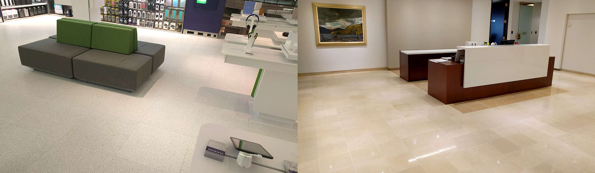 Commercial Spaces, lobbies, reception, offices
