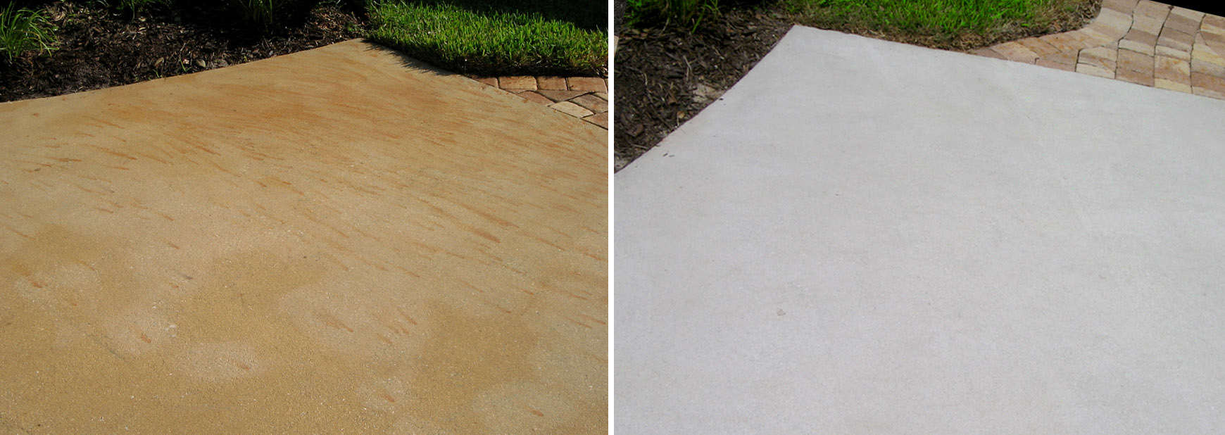 Removal of rust staining on concrete