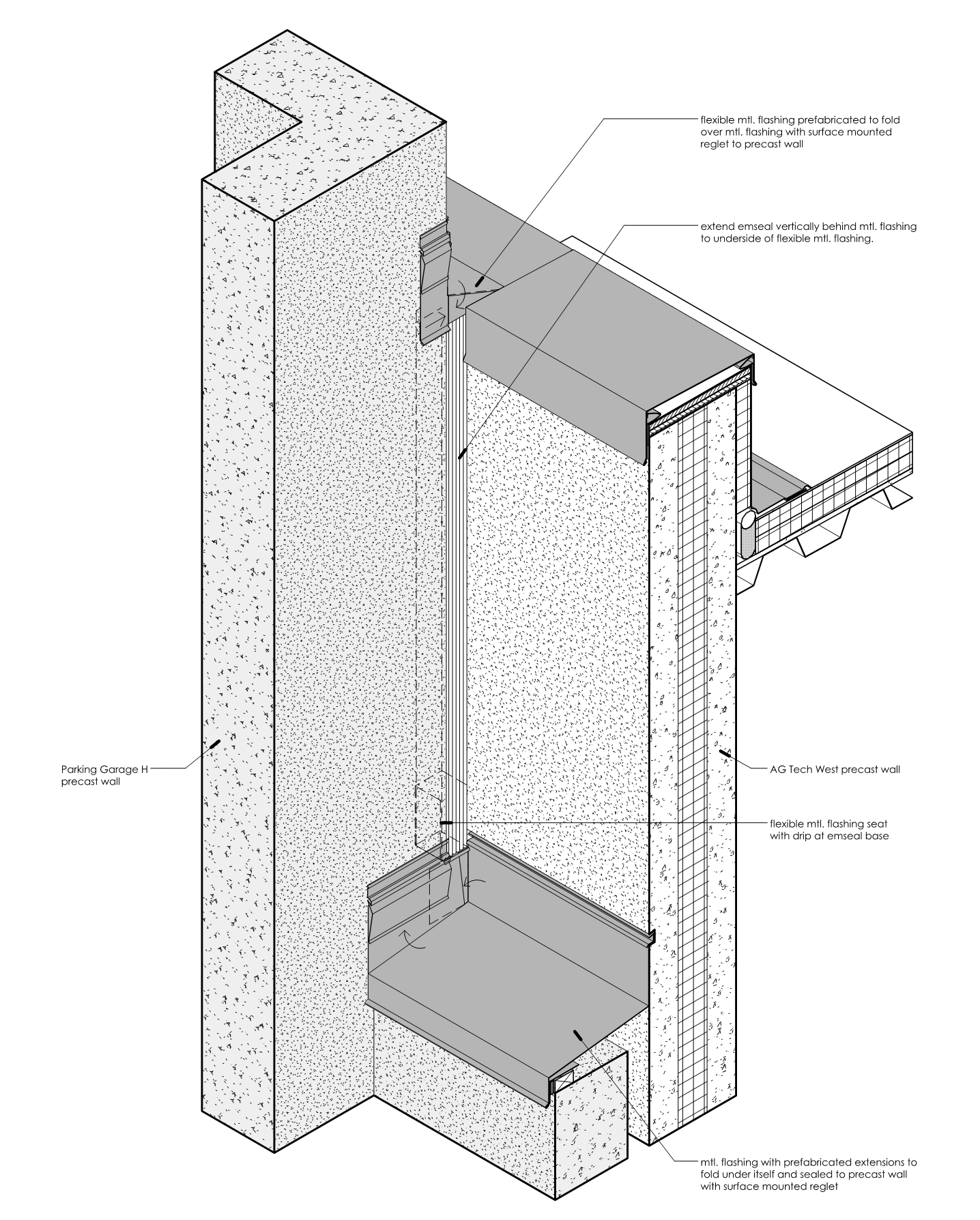 SKA-17 Precast Axonometric Detail