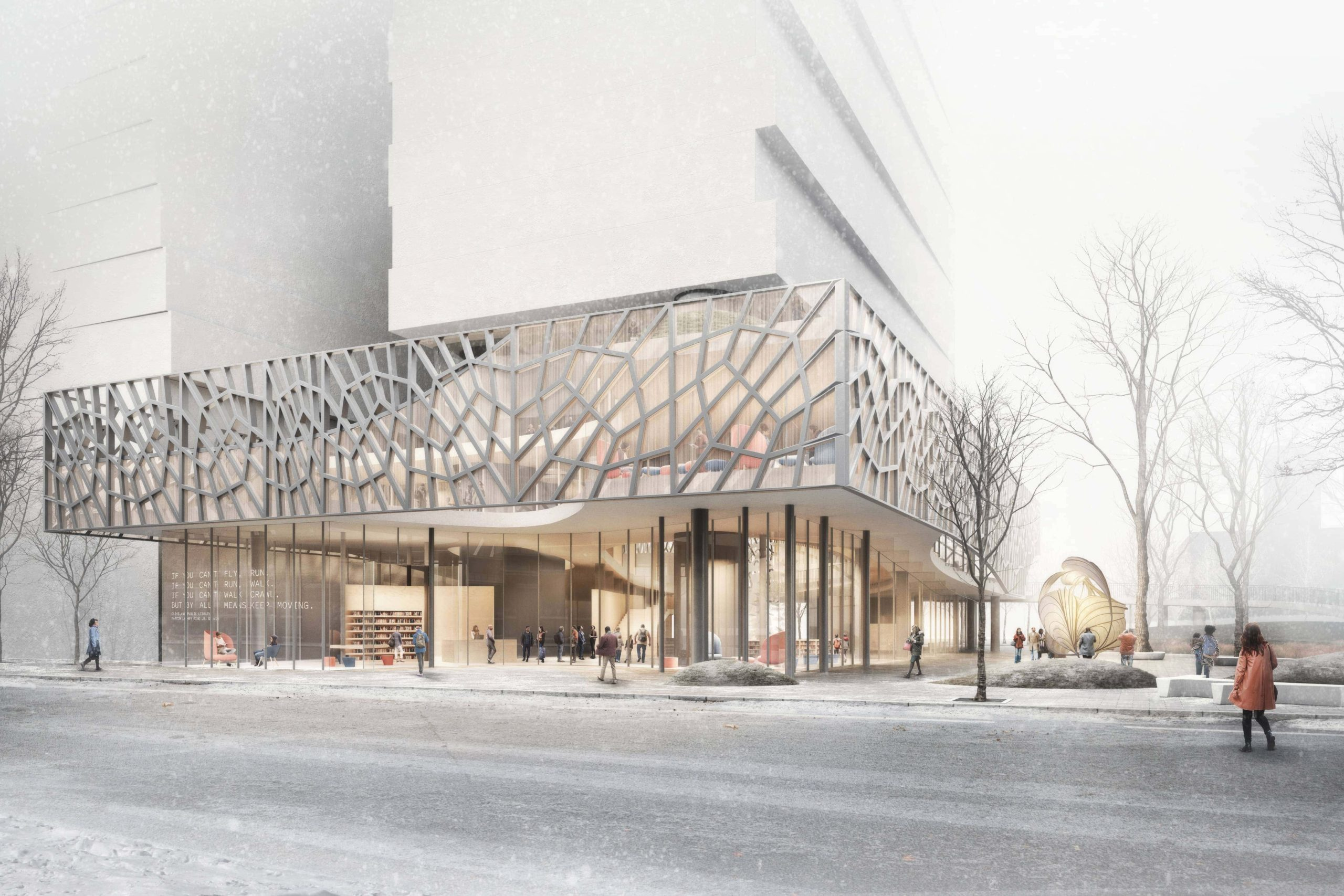 Cleveland Public Library<br>Martin Luther King Jr. Branch<br>Runner Up, Commissioned:<br>International Design Competition