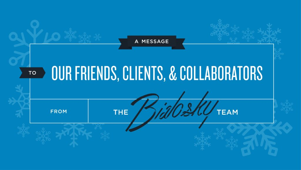 A Message to Our Friends, Clients, and Collaborators