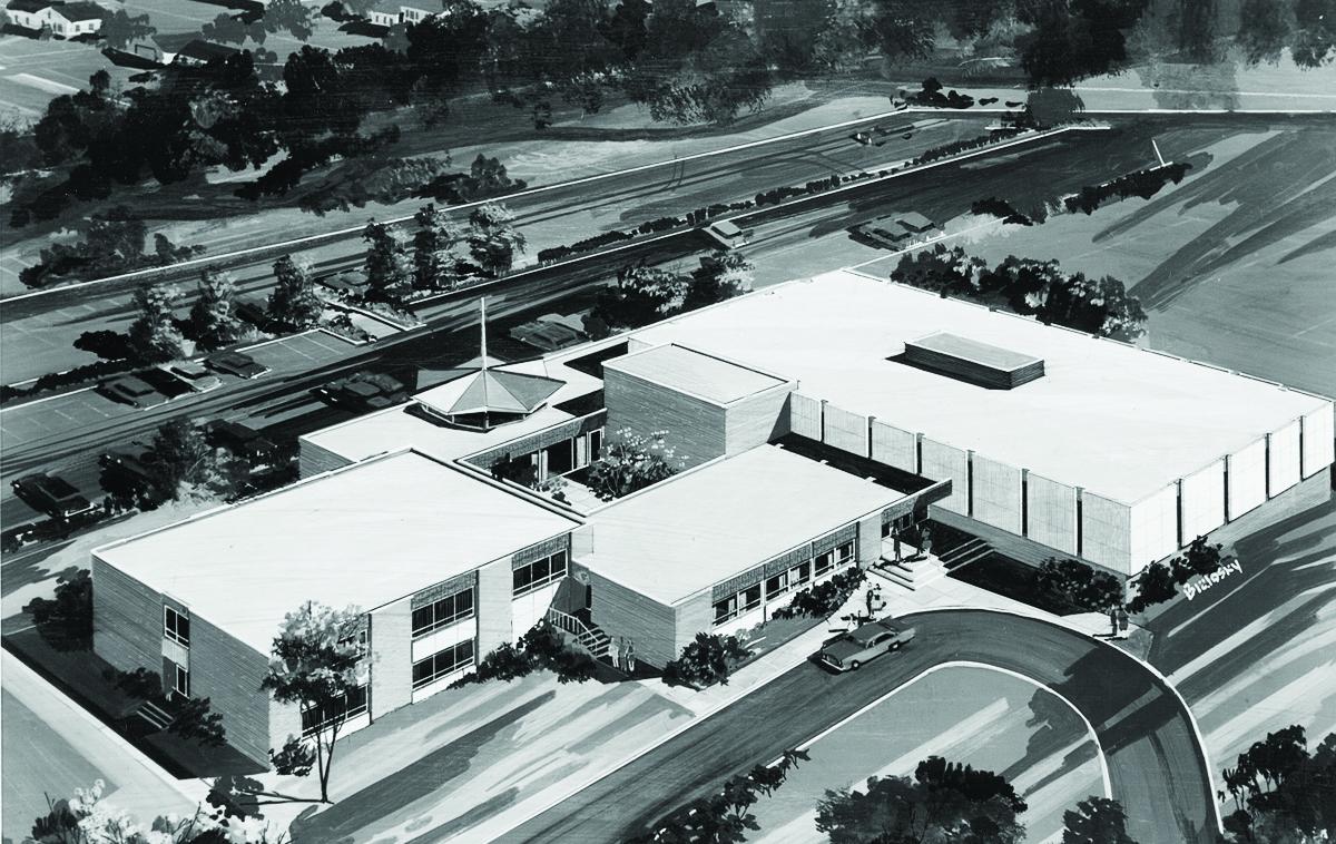 Lorain Temple – Rendering – 1968