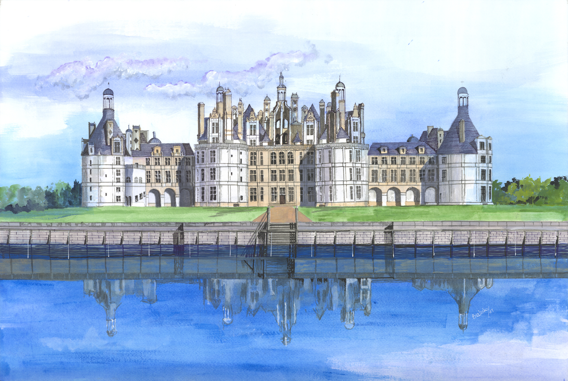 Castle with Reflection