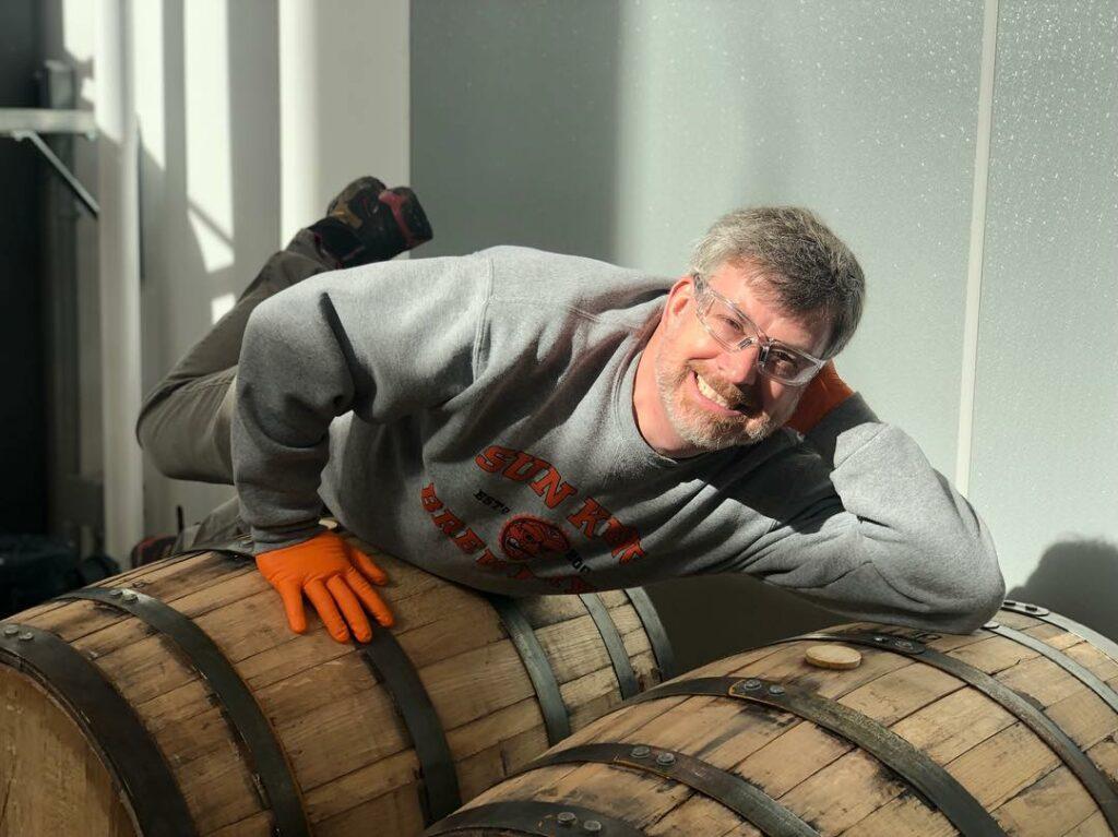 Dave on barrels