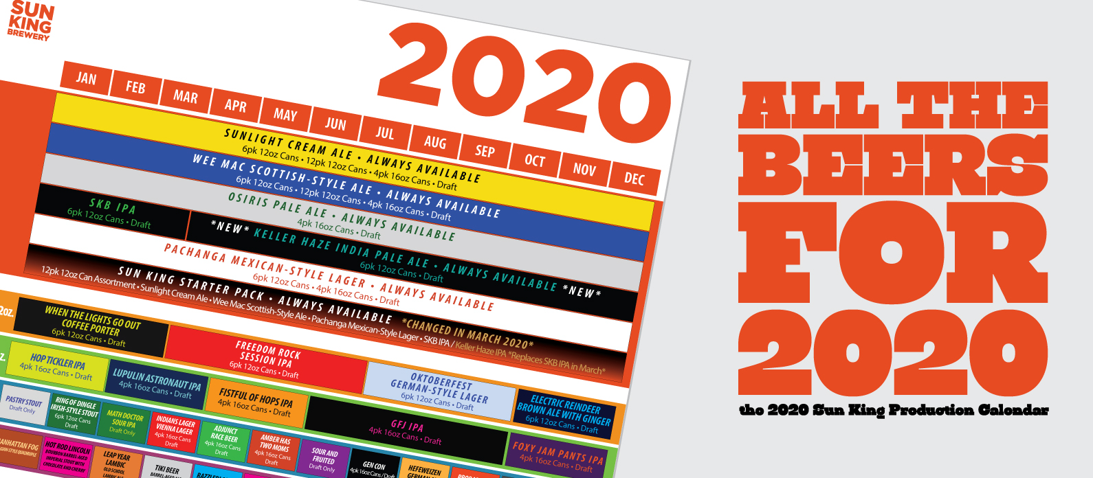 2020 Production Calendar Preview