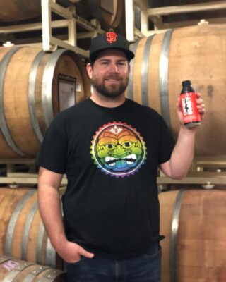 Meet Andrew aka Hoodie to many of us in the craft beer industry! . . . 1️⃣ Andrew just celebrated his 5th anniversary with Sun King! He is our Barrel Aging Manager (wood handler) - creating barrel-aged beers and sour ales. 🖐🏽 🍑🍋🍎🍺 . 2️⃣ Go-to beer is our easy drinking Pachanga Mexican-style Lager. But his favorite is 3-time #GABF medal winner, Cherry Busey - which comes out this Saturday, June 22nd. 🍒🍻 . 3️⃣ Andrew worked at a few other breweries before making his way to the Midwest from Orinda, CA. When he's not acting like a mad scientist with our barrel program, you can find him cooking outdoors in his outdoor pizza oven or making his own hot sauces with peppers he grows. 🍕🌶 . 4️⃣ Best thing about his job - playing around with fun ingredients that you would never think that would go well in beer. And being able to take a well made beer and making into something super radical. 💥 . 5️⃣ If Andrew wasn't a Brewer then you would see him doing flips and tricks as a Monster Truck driver. 👨🏻🔬🚛 . . . #sunkingbrewery #meettheskbcrew #cheers2tenyears #🌞👑🍺 #cherrybusey #monstertrucks