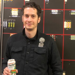 Cheers to a sunny fall Tuesday! It's time to meet our Tuesday Meet the Crew: Trevor • • 1️⃣ Trevor made his start at Sun King in Oct 2011. He's been our Head Cellerman since 2014. What does a cellerman do? They are in charge of everything after fermentation. From filtering to carbonating to packing the beer that YOU drink! 👷🏻‍♂️🍺 • • 2️⃣ No surprise here...his favorite beer is Pachanga! You'll catch him having one after the work day is done along side the Shifty Boys. 🍻 • • 3️⃣ Who knew?! Trevor has been in a few touring bands over the years. The last band he was in recorded a 7-inch record with Jack White (yeah that one!) for the Blue Series on his label Third Man Records. Bonus: Trevor wrote the copy about the band that is featured in the book about the Blue Series. 🚐🎸🥁 • • 4️⃣ His favorite thing about his job is coming up with solutions to a challenge or problem. 🙋🏻‍♂️🤔 • • 5️⃣ If he wasn't cellaring at Sun King, he would run his own recording studio and would record bands all the time. 🎤🎧🎼🎹 • •  #sunkingbrewery #meettheskbcrew #shiftyboys #jackwhite #blueseries #cellerman #brewerylife #cheers2tenyears