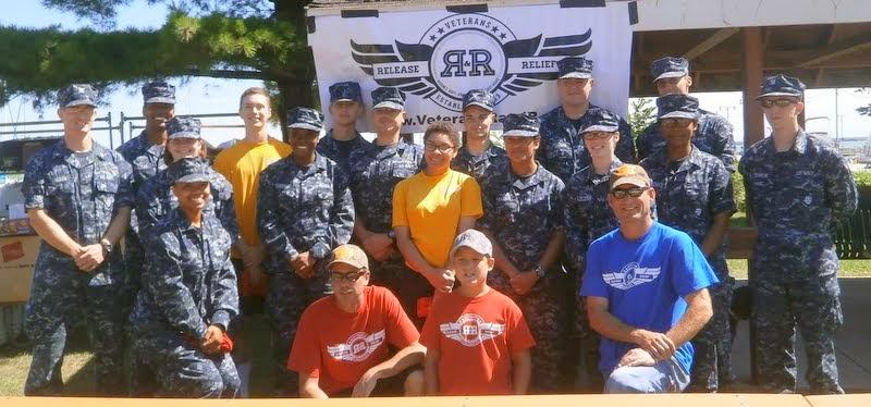 Sailor volunteers