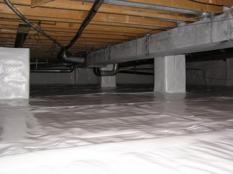 Crawl Space Moisture Barrier