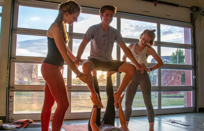 Yoga social media photography