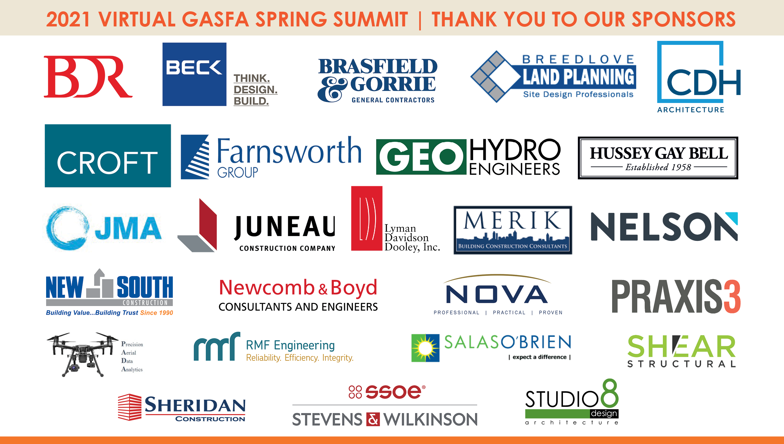 GASFA SS21 Sponsors